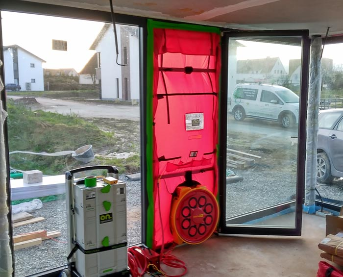 zrakotestnost blower door test hise